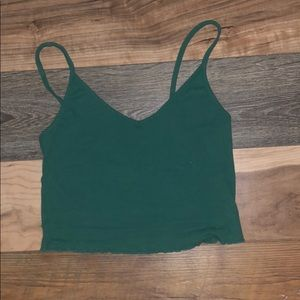 Army green pac sun cropped tank
